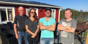 Kjell Höglund, Malin Nordin, Thomas Höglund och Ville Nevalainen bor alla i fastigheter som råkat ut för vattenläckage efter att ha installerat fiber.