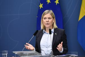 Finansminister Magdalena Andersson (S). Foto: TT.