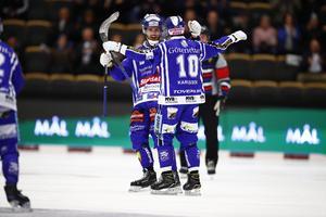 Villa fick återigen jubla – när lagets fjärde raka seger kom mot Motala. FOTO: Thomas Johansson/TT