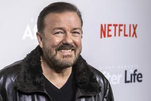 Ricky Gervais är strålande i rollen som sörjande man i Netflix-serien After life.