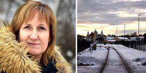 Anna Hed (C) hoppas på en lösning vad gäller de nya stängsel som du finner längs järnvägen i Mora.