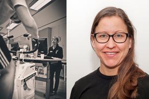 En bild från mönstringen samt Sofie Engström vid Rekryteringsmyndigheten.