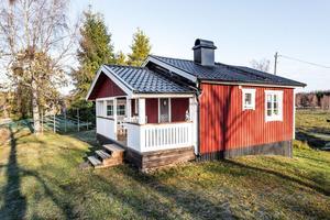 Fritidshus i Bomsarvet i Borlänge. Foto: Fastighetsbyrån Borlänge
