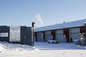 Här, på Industrihuset Hägern, har Kent Ström och ytterligare fyra företag sin verksamhet.