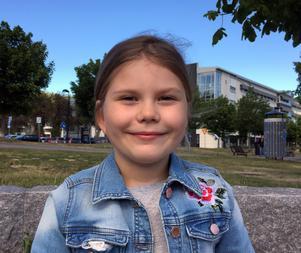 Estelle Persson, 7 år, skolelev, Alliero
