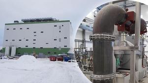 Kraftvärmeverket, KVV Kopparslagaren i Sveg.Bild: Björn Groth, Härjeåns energi / Montage