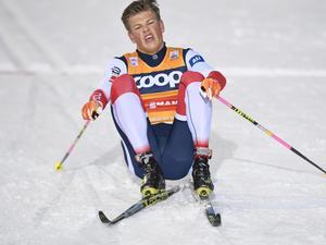 Norges Johannes Kläbo i Ruka. Bild: Anders Wiklund/TT Nyhetsbyrån.