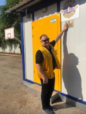 En av skolmodulerna i Adana invigs. Bild: privat