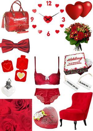 Samla dina kärleksfulla minnen i en väska, Väskbutiken, 3113:-   Ta vara på tiden tillsammans, handladesign,se, 495:-   Love is in the air, Clas Ohlson, 29:- för 10 stycken   Fluga i kärleksrött, Slipskungen, 169:-   Säg det med blommor, Interflora, 495:-   Eggande äggpress, coolstuff.se, 49:-   Sexiga underkläder från Twilfit, bh 161:-, trosor 115:-   Spel för två, roligaprylar.se, 199:-   Tag med klara budskap, Gallerix, 15:-/st   Smycke för kärlekspiller, twoshabbychicks.se, 110:-   Kärlek uppåt väggarna med tapet från Rusta, 149:-   Baka eget hjärtegott, recept finns bland annat hos norrlandsmejerier.se   Kärlek är att låta någon vila, fåtölj från EM, 4995:-