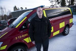 Mikael Lundberg, räddningsledare.