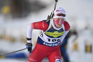 Emma Lindberg, Älvdalen, tog en meriterande seger i söndagens distans.