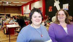 Nöjda med utvecklingen. Nästa år blir det tio-årsjubileum för julmarknaden berättar initiativtagarna Malin Gustavsson och Jill Hedström.