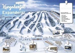 Så här ska nya Kungsberget se ut. En förvandling från skidanläggning till skidort. Sammanlagt ska 500 miljoner kronor satsas under en fem års period. Till sommaren ska den första stugbyn börja byggas.