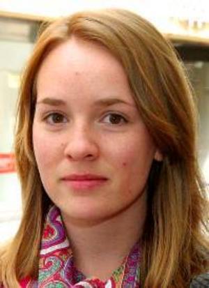 Anna Kjällström, 25 år, Östersund:– Ja, för att det är mitt sätt att kunna påverka vilka som är de viktiga frågorna i EU. Jag röstar på socialdemokraterna.