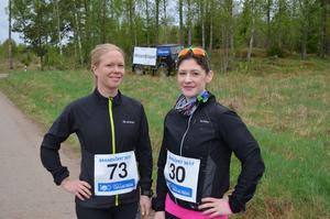 Vännerna Jenny Byström och Audrey Erath från Västerås anmälde sig till loppet direkt det gick.   Jenny är inbiten löpare med flera Lidingölopp på meritlistan. För Audrey var det  första terrängloppet någonsin.