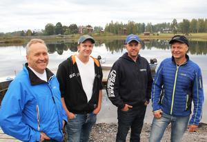 Rolf Lysell, Martin Elversson, Stefan Olsson och Stefan Barenfeld hoppas på tre år ytterligare för projektet Fishing in the middle of Sweden.