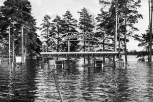 Det bästa färdmedlet om man ville gå in genom Långnäsparkens entré var utan tvekan båt..