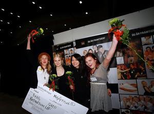 Tjejerna bakom företaget Refashion UF vann miljöpriset.f.v Marielle Krus, Anna Kvick, Anna Nilsson och Tova Torstensson