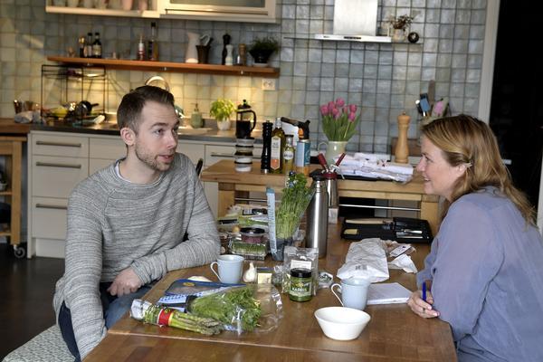 Mia Gahne samtlar med Johan Backeus som blev Årets kock 2017.