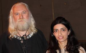 Stefan Lakatos och Mariam Tonoyan bjöd på fängslande musik av Moondog, på 50- och 60-talet känd som Sjätte avenyns viking.