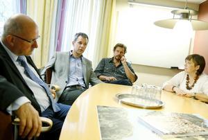 Johan Palm, tvåa från vänster, är ny förvaltningschef för kultur- och fritidsförvaltningen.