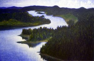Kent Roysons målningar knyter an till Helmer Osslunds verk.