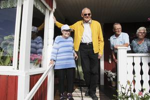 Karin Norin var det som tog emot Gösta Viking när han kom skada till huset efter olyckan.