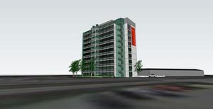 Skiss: Johan Skoog arkitektkontor ABDär Shells bensinmack låg kan det bli en stor kontorsbyggnad istället, om alla planer går i lås.