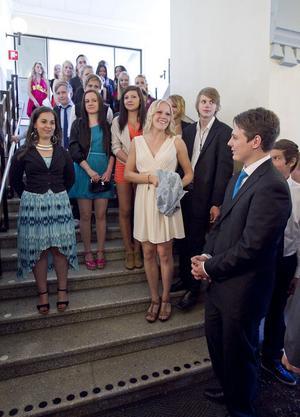 Uppklätt och snyggt var temat på niornas avslutningsfest vid Östra skolan.