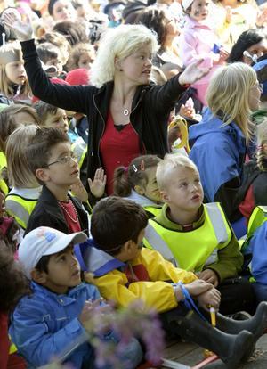 Trångt. Fler än 600 barn, förskollärare och föräldrar hade samlats i Varberga i torsdags för att fira Förskolans dag.