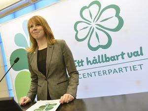 Hur hållbart? Partiledaren Annie Lööf presenterade förslaget till idéprogram. Men håller sig Centern kvar i riksdagen?Foto: Jonas Ekströmer/Scanpix