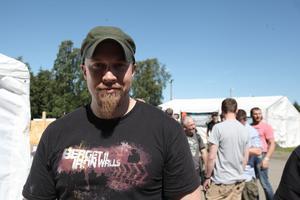 Oskar Kenttälä deltar för sjätte året. Tidigare har han hjälpt till med arrangemanget men nu är han med och spelar.