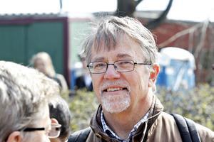 Jacob Johnson, riksdagsman från Uppsala, var Vänsterpartiets huvudtalare i Gävle.