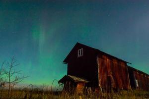Bilden som visar den upplysta himlen fångades mellan Västerås och Skultuna, cirka 4 kilometer från Billsta.