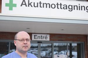 Thomas Lindberg, verksamhetschef för akutmottagningen i Mora.