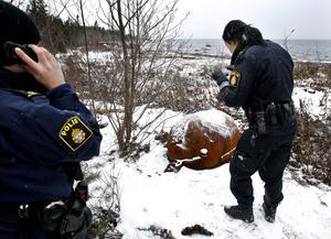 Arkivbild. 2012 hittades en liknande mina längs Njurundakusten, strax söder om Sundsvall.
