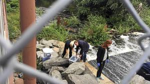 Polisen hittade klädrester i samband med att man dök efter den försvunna Fatima Berggren i Svartån i augusti, men ville inte uppge om kläderna hade någon betydelse i fallet. Även under Missing Peoples sökande på söndagen hittades en del fynd, men inget avgörande.