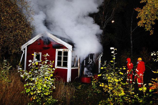Villa blev totalt utbrand