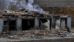 Kånnaskolan utanför Ljungby, ett av flera planerade flyktingboenden som bränts ned.