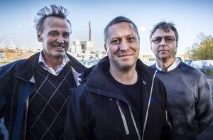 Tord Hägglund och Per Herdegård vid Bekab, tillsammans med Tony Eklöv på systerföretaget Industriautomation, hoppas på en växande etablering med ingenjörstjänster i Hudiksvall.