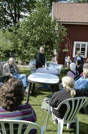 Historia. Leif Vörde var dagens guide. Foto: Emma Glännström
