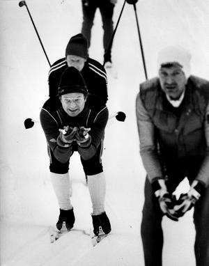 Kung Carl XVI Gustaf åker öppet spår i Vasaloppet 1987.