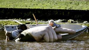 Lotta Hannerz konstverk pekande finger var ett av de mer iögonfallande konstverken 2009.