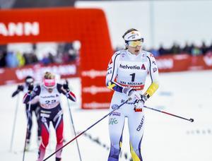Stina Nilsson hade det tufft på fem kilometer klassiskt.