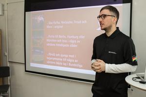 Frank Luthardt från Tysk-svenska handelskammaren listar fördelar för dem som lär sig det tyska språket.