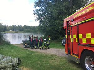 Räddningstjänsten Dala Ditt vid Båtstabadet i Borlänge efter larm om drunkning