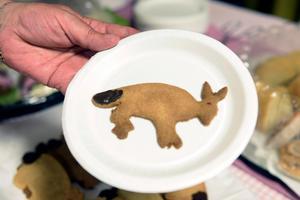 I serveringen kunde man bland annat äta en skvaderkaka.