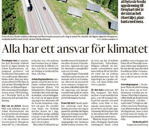 Jag representerade i debattartikeln främst den opolitiska Roslagens Naturskyddsförening, skriver Ola Nordstrand.