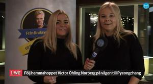 Mittmedias reportrar Amelia Mauritzon och Sanna Svanebo.