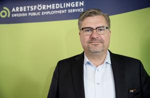 Generaldirektör för Arbetsförmedlingen är Mikael Sjöberg. Foto: Marko Säävälä/TT.